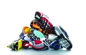 pile chaussures de running